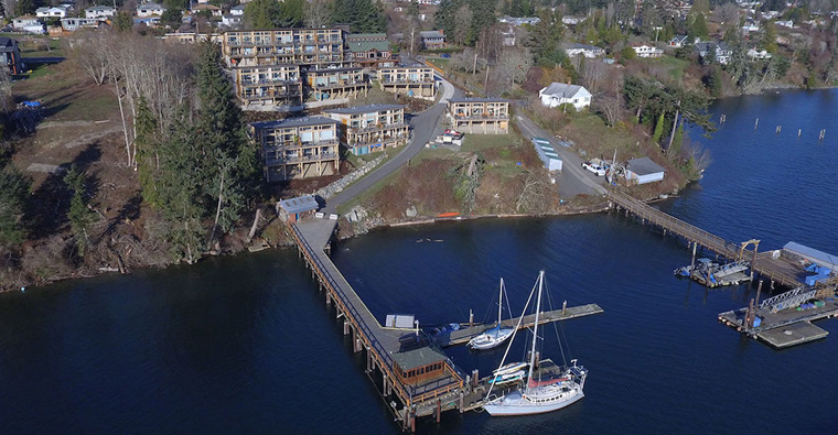 Aerial view of Harbourside